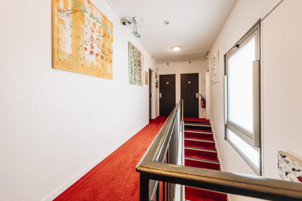 Hôtel Alizé Toulouse Métro Minimes Couloir Chambre